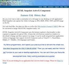 HTML Snapshot screenshot