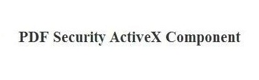 PDF Security ActiveX