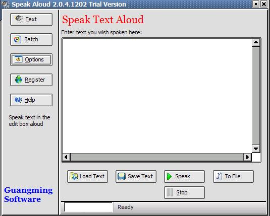 Convert text to wav mp3 ogg speak text aloud affordable Screen Shot
